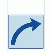 ワンタッチ取付標識 右カーブ矢印 (SMJ-30) ※名入れサービス実施中