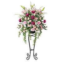 【送料無料】ニコルローズスタンド (造花) 高さ160cm 光触媒 (10A600)