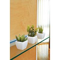 多肉植物3点セット (人工観葉植物) 高さ11cm 光触媒 (231B35)