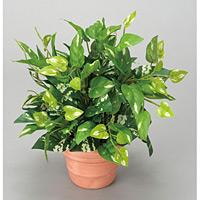 ポトス (人工観葉植物) 高さ25cm 光触媒 (261A25)