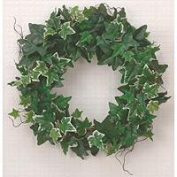 壁掛アイビーリース (人工観葉植物) 高さ50cm 光触媒 (273A30)
