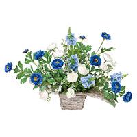 ワイドブルー (造花) 高さ33cm 光触媒 (329A50)