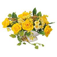 マーメイドローズ (造花) 高さ19cm 光触媒 (340A30)