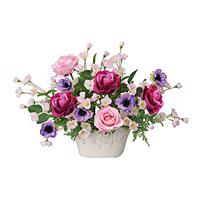 【送料無料】ローズベール (造花) 高さ40cm 光触媒 (35A100)