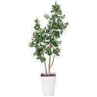【送料無料】ハックルベリー (人工観葉植物) 高さ125cm 光触媒 (366A200)