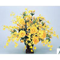 【送料無料】ゴールドエース (造花) 高さ55cm 光触媒 (37A100)