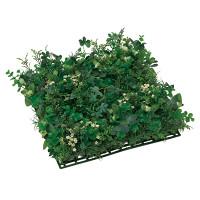 グリーンミックスマット (壁掛け/壁面用人工観葉植物) 高さ10cm 光触媒 (445B50)