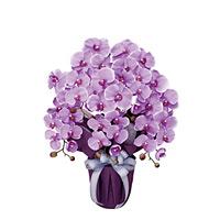 エレガント胡蝶蘭L (造花) 高さ64cm 光触媒 (453A80)