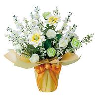 ご仏壇お供花 グリーンアイス (造花) 高さ50cm 光触媒 (465A70)