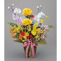 開運8色フラワー (造花) 高さ60cm 光触媒 (47A60)