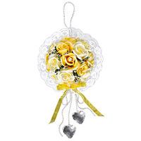 クリスタルローズY (壁掛タイプ) (造花) 高さ25cm 光触媒 (486A30)