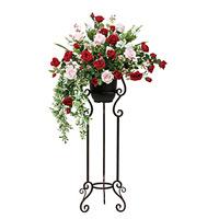 【送料無料】スカーレットローズスタンド (造花) 高さ122cm 光触媒 (533A450)