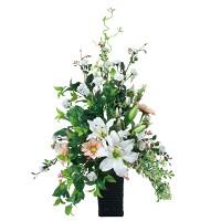 【送料無料】スタイリッシュカサブランカ (造花) 高さ82cm 光触媒 (537A150)