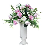 ピンクスター (造花) 高さ39cm 光触媒 (543A50)