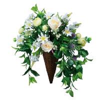 【送料無料】スイートグリーン (壁掛タイプ) (造花) 高さ53cm 光触媒 (555A100)