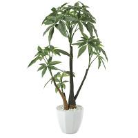パキラポットL (人工観葉植物) 高さ55cm 光触媒機能付 (629A85)