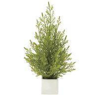 ミニゴールドクレスト (人工観葉植物) 高さ31cm 光触媒機能付 (634A20)