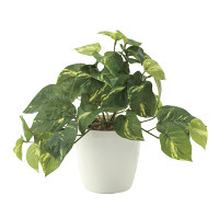 フレッシュポトスS (人工観葉植物) 高さ25cm 光触媒機能付 (642A35)
