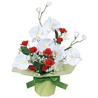 ブライトコチョウラン (造花) 高さ43cm 光触媒 (64A30)