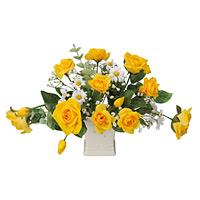 ミルフィーローズ (造花) 高さ25cm 光触媒 (65A30)