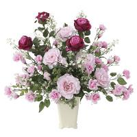 【送料無料】グランドローズ (壁掛タイプ) (造花) 高さ57cm 光触媒 (665A150)