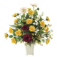 【送料無料】パレットローズ (壁掛タイプ) (造花) 高さ56cm 光触媒 (668A120)