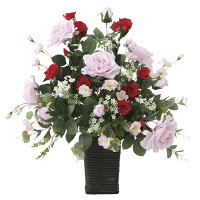 【送料無料】スエーデンローズ (壁掛タイプ) (造花) 高さ55cm 光触媒 (669A100)