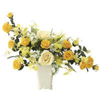 【送料無料】ゴールドハニー (壁掛タイプ) (造花) 高さ47cm 光触媒 (671A100)