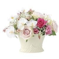 ピエールローズ (造花) 高さ18cm 光触媒 (673A55)