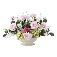 シンシアピンク (壁掛タイプ) (造花) 高さ29cm 光触媒 (676A70)