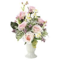 カレンティローズ (造花) 高さ34cm 光触媒 (678A50)