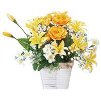 アレンジフラワー (造花) 高さ27cm 光触媒 (67A30)