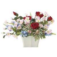 フレックスローズ (造花) 高さ25cm 光触媒 (682A50)