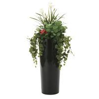 【送料無料】寄せ植えユッカ (人工観葉植物) 高さ130cm 光触媒 (727A600)