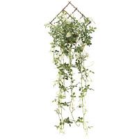 壁掛けジャスミン花付 (人工観葉植物) 高さ85cm 光触媒機能付 (738A80)