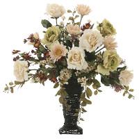 【送料無料】グレースアースカラー (壁掛タイプ) (造花) 高さ65cm 光触媒 (744A180)