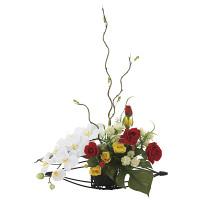 華やか (壁掛タイプ) (造花) 高さ58cm 光触媒 (747A80)