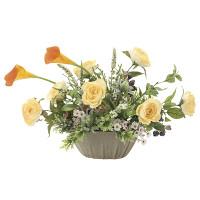 エミリーカラー (壁掛タイプ) (造花) 高さ34cm 光触媒 (749A75)