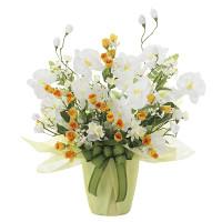 メローホワイト (造花) 高さ54cm 光触媒 (757A50)