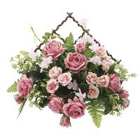 モネール (壁掛タイプ) (造花) 高さ26cm 光触媒 (758A48)