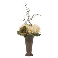 アースカラーローズ (造花) 高さ47cm 光触媒 (763A35)