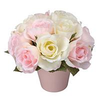 アレンジフラワー バラ (造花) 高さ15cm 光触媒 (76A25)
