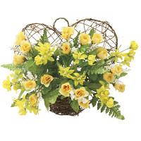 ツインハート (壁掛タイプ) (造花) 高さ25cm 光触媒 (771A30)
