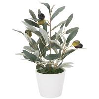 ミニオリーブ (人工観葉植物) 高さ30cm 光触媒 (835A35)