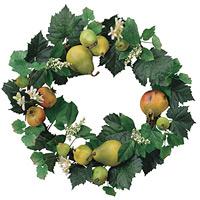 フルーツリース (壁掛タイプ) (造花) 高さ45cm 光触媒 (86A35)