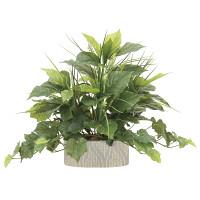 【送料無料】フレッシュミックス (人工観葉植物) 高さ42cm 光触媒 (874A100)
