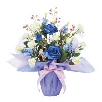 ブルーレイン (造花) 高さ45cm 光触媒 (880A50)