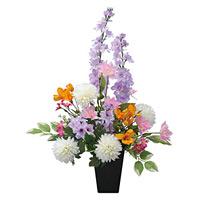 ご仏壇お供花 みやび (造花) 高さ56cm 光触媒 (95A50)