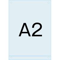 アンダーバー付アクリル板 (マグネジ看板用オプションパーツ) A2 (PSMNAC-A2)