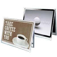 ポスター用スタンド看板 マグネジ A0横ロータイプ シルバー/ブラック 片面 (PSSKMN-A0YLKB)